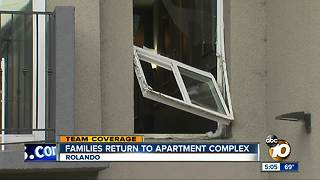 Families return to apartment complex - Video