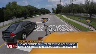 Districts working to target drivers who pass school buses - Video