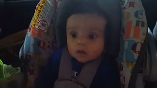 Baby Surprised By Tunnel Lights Has A Priceless Reaction - Video