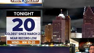 Near record lows tonight! - Video