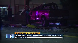 Pickup truck driver dead after collision with car in Clairemont