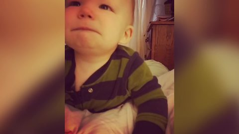 Baby Boy Cries When His Dad Sings The Happy Birthday Song