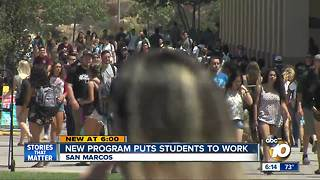 Program puts CSU students to work in San Marcos - Video