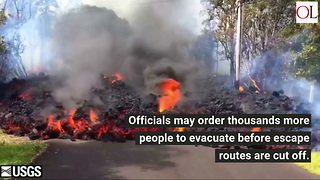 Lava Threatens Hawaii Exit Routes - Video