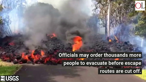 Lava Threatens Hawaii Exit Routes