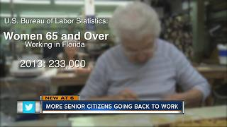 More and more older workers are seeking employment