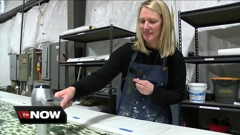 Her company recreates Charles Burchfield's original wallpaper designs