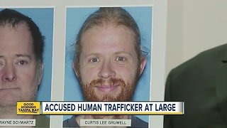 Accused human trafficker at large, 6 arrested