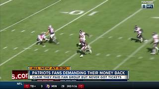 Patriots fans demanding their money back after never receiving their tickets - Video