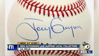 New autograph law hurting San Diegan collectors - Video