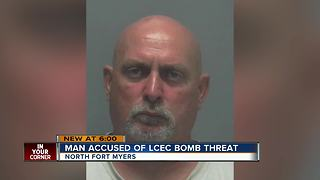 Man accused of LCEC bomb threat - Video