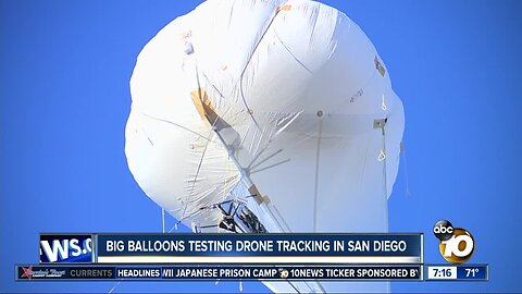 Big balloons testing drone tracking in San Diego