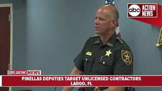 Pinellas deputies target unlicensed contractors | News Conference - Video