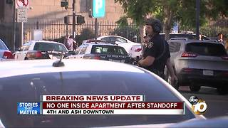 No one inside apartment after standoff - Video