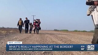Data shows a slight increase in border apprehensions and a drop in children encounters