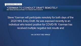 Steve Yzerman participating in NHL Draft remotely after possible COVID-19 exposure