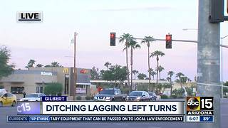Crews changing left turn arrows in Gilbert from lagging to leading - Video