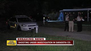 Sarasota County detectives investigate shooting in Nokomis - Video