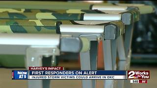 First responders on alert for evacuees - Video