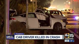 Cab driver killed in early morning crash in Phoenix - Video