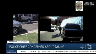 Oceanside Police Chief concerned about department's recent tasing incident