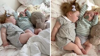 Adorable sleeping twins will leave you in awe