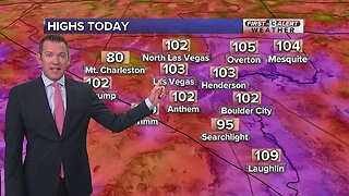 13 First Alert Las Vegas weather updated August 12 morning