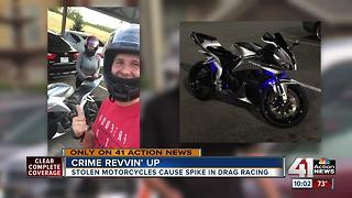 Stolen motorcycles cause spike in drag racing - Video