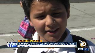 San Diego Unified Letting out early dute to heat - Video