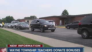 Wayne Township teachers donating bonuses - Video