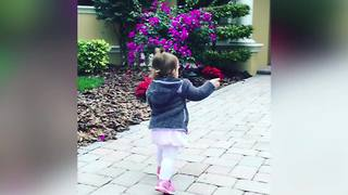Little Girl Doesn't Want To Go To School - Video