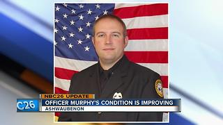 Ashwaubenon officer hit by alleged drunk driver is improving - Video