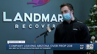 Valley business leaving Arizona over Prop 208