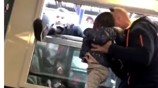 Passengers Board Train Through Windows as French Rail Strike Continues - Video