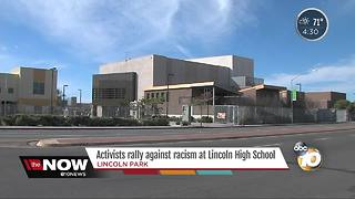 Activists rally against racism at Lincoln High - Video