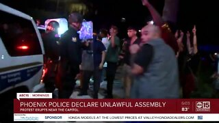 Phoenix police declare unlawful assembly amid George Floyd protests