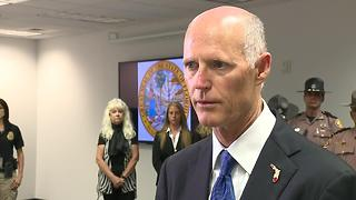 Governor Rick Scott Talks Pay Raise for Law Enforcement - Video