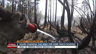 Pasco Wildfire: school hours changing this week - Video
