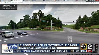 2 people killed in motorcycle crash on Westminster Pike in Reisterstown - Video