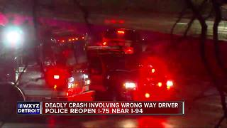 Police reopen SB I-75 after deadly crash involving wrong-way driver - Video
