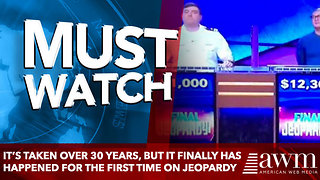 It's Taken Over 30 Years, But It Finally Has Happened For The First Time On Jeopardy - Video