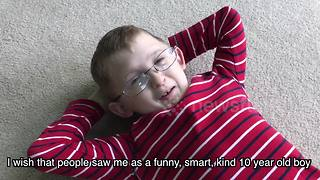 Boy, 10, shares heart touching message for Dwarfism Awareness Month - Video