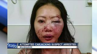 Greenfield police arrest teen who brutally beat woman in carjacking attempt - Video
