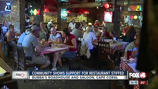 Community packs restaurant stiffed by customers after power outage