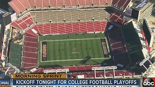 Kickoff tonight for college football national championship in Tampa - Video