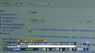 Businesses target new hires as unemployment continues to drop - Video