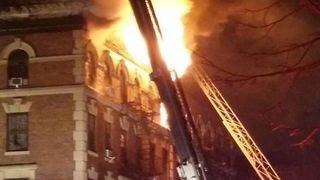 Flames Erupt From Top Floor of Bronx Apartment Building - Video