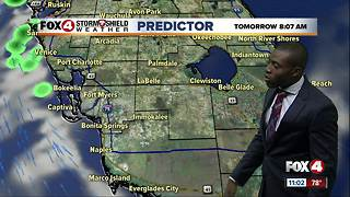Hot with scattered storms on Sunday - Video
