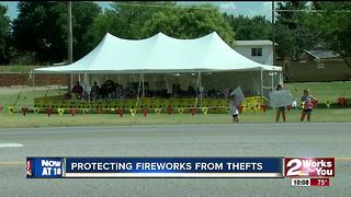 Protecting fireworks from thefts - Video