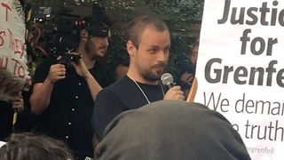 Protesters at Kensington Town Hall Demand Justice for Grenfell Fire Victims - Video